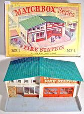 Matchbox Fire estación mf-1 rarezas verde techo en Box