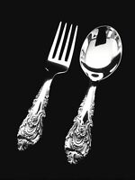 Wallace Sir Christopher Sterling Silver Baby Fork and Spoon Set - 👶🎁