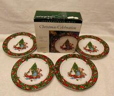 BOB TIMBERLAKE Christmas Celebration set of 4 Salad Plates.