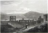 Athens Greece ODEON OF HERODES ATTICUS Stone Theater ~ 1829 Art Print Engraving