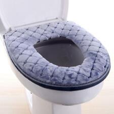 Bathroom Toilet Seat Closestool Washable Soft Warmer Mat Pad Cover Cushion T8U3