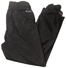 Columbia Men's Black Insulated Snow Ski Omni Tech Waterproof Insulated Pants XL