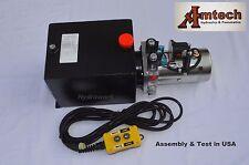 4210S Hydraulic Power Unit, Hydraulic Pump 12V Double Acting,10Qt, Dump Trailer