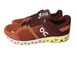 NEW- On Cloud Running Shoes Burnt Orange/ Red Swiss Engineering 9.5 MSRP $160