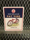 """NEW BELGIUM BREWING NC CO ~ FAT TIRE ALE 3"""" X 4"""" ~ OFFICIAL ~ Beer Sticker Sign"""