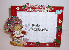 """Vintage"" STRAWBERRY SHORTCAKE & Custard Kitty Cat PHOTO PICTURE Desk FRAME NEW!"