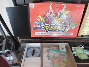 "Pokemon ""Master Trainer"" game COMPLETE Milton Bradley Orange box Version 2"