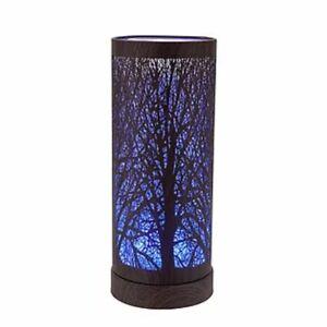 Electric Plug-In Walnut Colour Changing Aroma Lamp Wax Melt Oil Burner Warmer