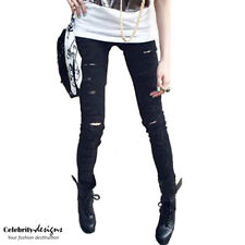Womens White Distressed, Black Ripped Low Rise Skinny Jeans Australia RRP $40