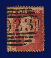 1877 SG43 1d Red Plate 206 KL Major Misperf Upright Worthing 923 GU Cat £11 cner