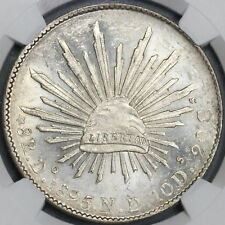 1895-Do NGC MS 63 MEXICO 8 Reales Last Silver Durango Coin POP 4/0 (18091006C)