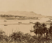 Photo Zangaki Albuminé Egypte Assouan Vers 1875/80