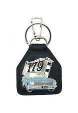EH 179 Flags with Blue Sedan   Quality Leather Key