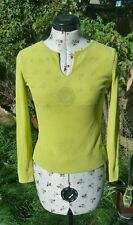 Genuine Valentino Jeans Chartreuse Colour Summer Trend Ladies Jumper Top Size S