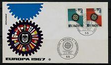 BRD FDC MiNr 533-534 (3) Europa (CEPT) 1967 -Vereinigung-Staatenbund-Politik-