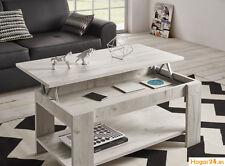 Mesa de centro elevable modelo Roma color blanco vintage