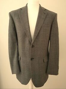 """M&S """"GREY"""" & BLACK WITH BLUE PRINCE OF WALES CHECK WOOL BLAZER JACKET 40 102 cms"""