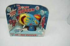 Schylling Atomic Ray Gun Tin Toy Friction Powered Space Sparking Action Red 5