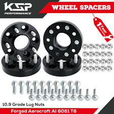 """(4) 1"""" Wheel Spacers Hubcentric 5x110 12x1.25 Studs 65.1mm CB +20 Bolts Fit Jeep"""