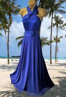 COAST  STUNNING 100% SILK COBALT BLUE  MAXI EVENING/CRUISE  DRESS SIZE 10 GC