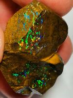 Australian Rough Boulder Opal AAA TOP NOTCH COLOURS GEM KOROIT MATRIX 84ct WE747