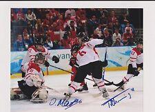 Florence Schelling/Julia Marty Switzerland Women's Hockey Signed Photo W/Our COA