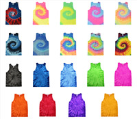 Tie Dye Tank Tops Adult Sizes (S-3XL) Unisex 100% Cotton Colortone