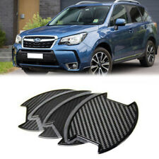 For Subaru Forester 2007-2019 Carbon texture Side Door Handle Bowl Sticker 4PCS