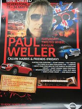 Paul Weller Signed Mini United Poster Silverstone 22-24 May Large.
