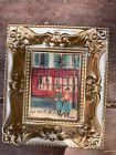 Miniature Maurice Utrillo French Street Scene Framed Print 2 x 2 3/4 inches