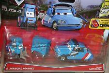 "DISNEY PIXAR CARS ""2-PACK E.MANUEL MANIEZ & BRUNO MOTOREAU"" NEW IN PACKAGE"