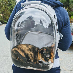 Cat Backpack Carrier Bag Breathable Transparent Puppy Dog Travel Space Bubble