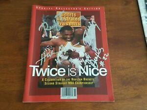 Autographed Sports Illustrated Houston Rockets Collectors Edition July 1995