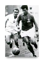 Just Fontaine Signed 6x4 Photo France PSG Genuine Autograph Memorabilia + COA