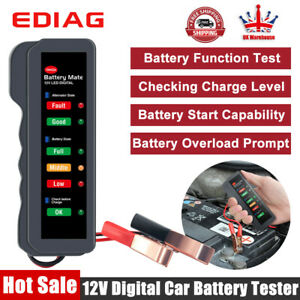 12V Automotive Battery Load Tester Analyzer 12 Volt Car Diagnostic Test Tool