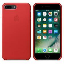 APPLE IPHONE 8 7 PLUS LEATHER CASE ROSSO RED COVER PROTEZIONE ORIGINALE