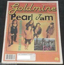 Pearl Jam History 1993 Goldmine magazine 14 x 11 newspaper issue 20 photos