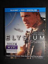 Elysium (Blu-ray/DVD, 2 Disc Set, 2013) W/Slipcover