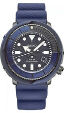 New Seiko Solar Diver 200M Blue Dial Silicone Strap Men's Watch SNE533