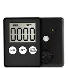 Slim Digital LCD Kitchen Timer Magnetic Pocket Cook Chef Restaurant Egg Counter