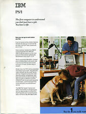 """ITHistory (1992) Datasheet IBM PS/1 PC """"You Don't Just Have A Job You Have Life"""