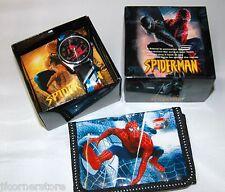 Fabuloso Para Niños Spiderman Reloj Y Billetera Conjunto Nuevo
