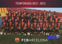 FC BARCELONA + Das Team 2012/2013 + FCB + Postkarte Sammler + NEU + Lizenz +