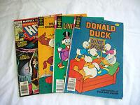 Duck Comics, Mixed Lot of 4-Donald, Howard, Huey, Dewey, 1977-1979, Bronze Age
