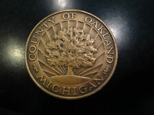 1970 Sesquicentennial County of Oakland Michigan Token Con Indian Front