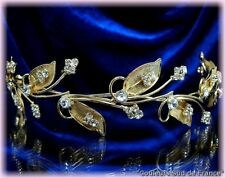 """DIADEME accessoire mariage doré bijoux cheveux """"feuillage"""" BIJOU DORE MARIEE"""