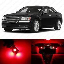 13 x Brilliant Red LED Interior Light Package For 2011- 2014 Chrysler 300 300C
