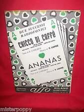 LOPEZ Chicco di Caffè + Ananas dalla Rivista OCCHIO PER OCCHIO OST Spartito 1954