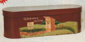 COUNTRY PRIMITIVE OUTHOUSE  BATH TOILET PAPER STORAGE BOX