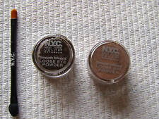 2 X NYC Mineral Eye Powder Espresso & Cocoa Shimmer New
